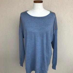 J. Crew Merino Zip Shoulder Sweater